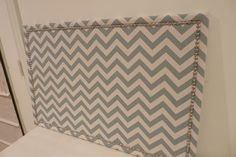 Chevron board-make for kitchen instead of hanging stuff on fridge?!