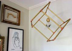DIY Industrial Ceiling Lights | Industrial DIY Geometric Pipe Pendant