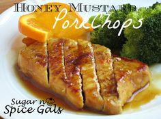 Spice Gals: Honey Mustard Pork Chops
