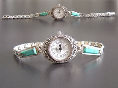 Turquoise vintage watch