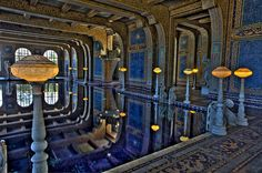Incredible mosaic work in Hearst Castle's Roman Pool - by Mike Hume