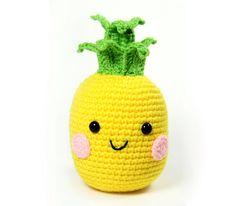 PATTERN: Pineapple Amigurumi Crochet Pattern - PDF Digital Download by WhimsyWayCrochet on Etsy https://www.etsy.com/listing/246250003/pattern-pineapple-amigurumi-crochet
