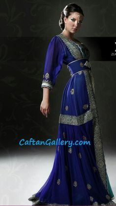 Amazing caftan Moroccan Art, Moroccan Caftan, Moroccan Style, Oriental Fashion, Oriental Style, Kaftan Abaya, Arab Fashion, Formal Dresses, Party Dresses