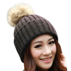 Beanie with Double Faux Fur Pom - Cream My Accessories