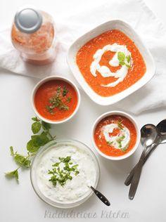 gazpacho with mint yoghurt