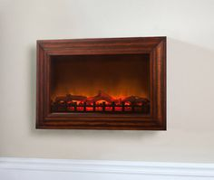 Fire Sense 60948 Wood Wall Mounted Electric Fireplace with Built in 1400 Watt Heater, Soft Touch Control Panel and Remote Control Small Fireplace, Fireplace Tools, Fireplace Wall, Fireplace Design, Fireplace Mantels, Portable Fireplace, Fireplace Surrounds, Wall Mount Electric Fireplace, Electric Fireplaces