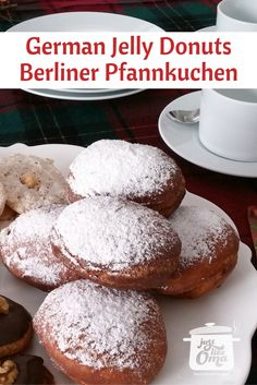 Berliner Pfannkuchen or Krapfen ~ a type of German jelly donut that's so popular for New Year's and anytime. Check out http://www.quick-german-recipes.com/jelly-donut-recipe.html