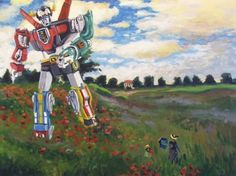 Artist Fuses Pop Culture Icons Into Famous Paintings - Transformers - Perfect for Grade 5 Visual Arts!