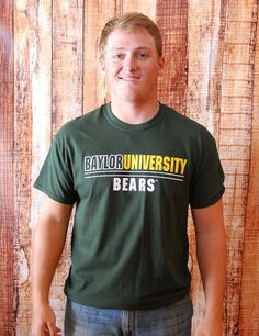 BU Striped Bear - FOREST GREEN at Barefoot Campus