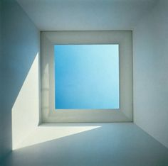 Skyspace I / James Turrell / 1974 / Overhead portal cut to outside sky, interior filled with natural light, site-specified dimensions