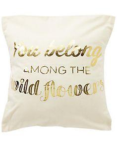 """Wildflowers"" Decorative Pillow"