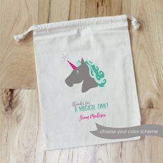 UNICORN Personalized Favor Bags  Magical by foryourlittlemonkey