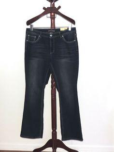 11af4eea2a28f NEW Faded Glory Plus 18W Thick Stitch Boot Cut Stretch Denim Jeans NWT   FadedGlory Faded