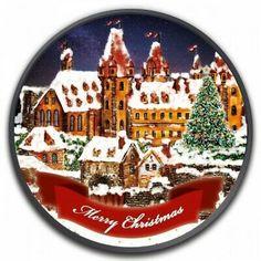 Merry Chistmas, Christmas, Da Vinci Vitruvian Man, Legal Tender, Alexander The Great, Ornaments Design, 1 Oz, Silver Coins, Clear Acrylic