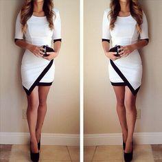 Slim Short Sleeve Vest Dress