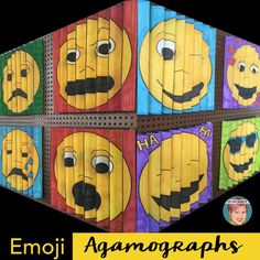 Emoji Agamographs from Art Jenny K. Full step-by-step instructions included + free emoji writing example/handout.