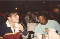 Bob Chicoine & William Dennis at a party for Chicago Stadium workers that Michael Ginsburg took at an unknown time.