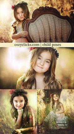 Child poses for children