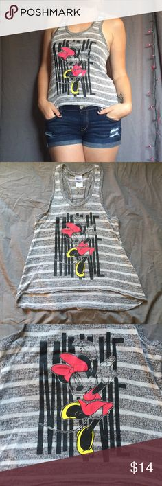 Minnie Mouse Knit Racerback •Like New •Disney's Minnie Mouse graphic knit Racerback tank top. Lightweight, comfy. Perfect for your upcoming Disney vacation!   ~walt Disney, Disneyland, classic Disney, fandom, disnerds, cute, summer~  ❗️Please ask any & all questions before buying! 🚫No holds 🚫No trades Disney Tops Tank Tops