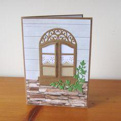 Okno s břečtanem