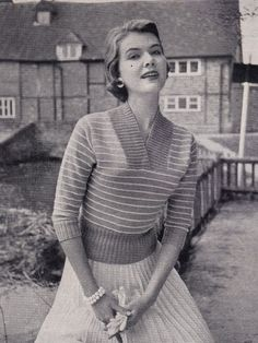 Lots of free vintage knitting patterns here :)