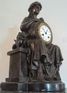 monumentale pendule empire retour d'Égypte signée estampillée bronze garantie PARIS J.B déposée mouvement de paris a fil JAPY estampillé méd...