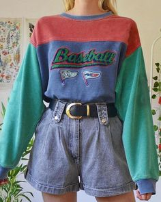 Indie Outfits, Teen Fashion Outfits, Retro Outfits, Fall Outfits, 80s Style Outfits, 80s Inspired Outfits, 1990s Outfit, Cute Vintage Outfits, Swaggy Outfits