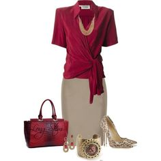 A fashion look from September 2014 featuring Gianfranco Ferré blouses, Valentino skirts y Jimmy Choo pumps. Browse and shop related looks. Mode Outfits, Office Outfits, Fashion Outfits, Womens Fashion, Office Fashion, Work Fashion, Fashion Looks, Business Outfits, Business Fashion