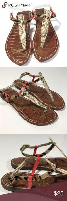 Sam Edelman T Strap Gigi Animal-Print Sandal 7.5 Beautiful ladies Sam Edelman sandals size 7.5 Sam Edelman Shoes Sandals