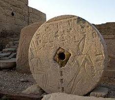 temple of dendera - grinding wheel (?) Egypt