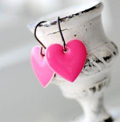heart earrings  etsy.com by WildWomanJewelry