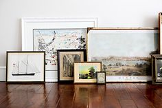 LOVE vintage art! I think every gallery wall needs a few vintage pieces ... www.charlieford.com has so many affordable ones!