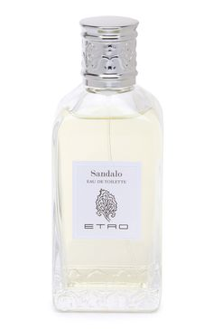 Sandalo by Etro is a warm, spicy and ambery Oriental Woody fragrance. Top notes are rose, lemon and bitter orange; middle notes are sandalwood, geranium and rose; base notes are amber, musk, patchouli, cypress and vanilla. - Fragrantica