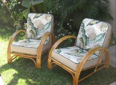 Beautiful Matching Rattan Chairs