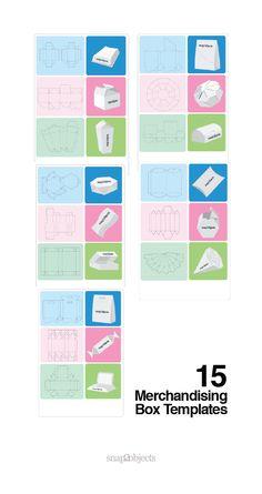15 Merchandising Box Templates #box #vectortemplate Packaging Box, Paper Packaging, Packaging Design, Cardboard Box Crafts, Paper Crafts, Templates Printable Free, Box Templates, Origami Wedding Invitations, Patch Aplique