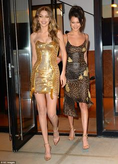 Go for gold like Gigi Hadid in Atelier Versace #DailyMail