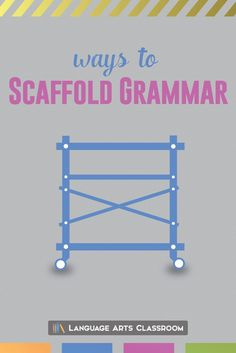 Scaffold grammar lessons and provide students with meaningful instruction. Jumping into a grammar lesson with little framework for students will create problems. Grammar belongs in discussions about literature, writing, and… Grammar And Punctuation, Teaching Grammar, Teaching English, English Teachers, Teaching Aids, Teaching Writing, Grammar Lesson Plans, Grammar Lessons, Middle School Grammar