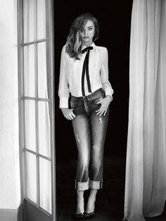 Miranda Kerr for 7 For All Mankind, fall/winter 2014