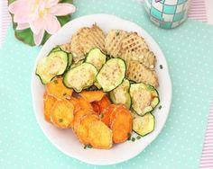Chips de vegetales con sabor a cebolla y crema