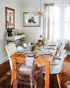 Gold/Bronze curtain rods - Brooklyn Blogger Helena Glazer Home Tour | TheNest.com