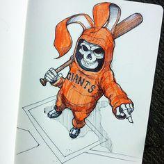 Bunny Reaper 2 by Norio Fujikawa, via Behance Cool Cartoon Drawings, Weird Drawings, Art Drawings, Graffiti Art, Gangster Drawings, Notebook Art, Graffiti Characters, Skull Tattoo Design, Bunny Art