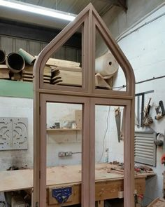 Gothic Door in Merrin Joinery Nottinghamshire Workshop French Windows, French Doors, Arched Doors, Listed Building, Love Your Home, Folding Doors, Patio Doors, Double Doors, Wooden Doors