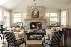Fireplace and a piano...no tv. Perfect for reading, listening to music, relaxing. My dream for a living room!