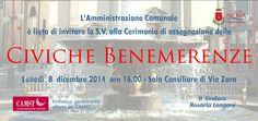 Invito Civiche Benemerenze 2014