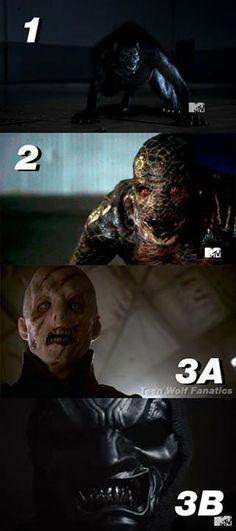 Villains- Peter, Jackson (kinda), Jennifer, and unknown  3B kinda scares me.. what is it?