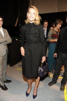Natalia Vodianova wears a Valentino coat in Paris, October 2012