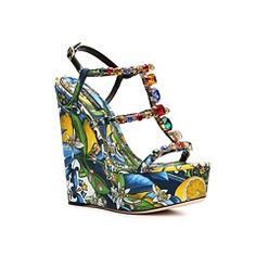 Dolce & Gabbana Fabric Wedge Sandal Women's Dolce & Gabbana Women's More Brands Womens Brands - DSW Quirky Shoes, Most Beautiful Models, Designer Heels, Women Brands, Other Accessories, Wedge Sandals, Shoe Boots, High Heels, Wedges