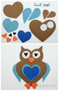 owl crafts diy ~ owl crafts & owl crafts for preschoolers & owl crafts for kids & owl crafts for toddlers & owl crafts for adults & owl crafts for kids to make & owl crafts diy & owl crafts sewing Kids Crafts, Owl Crafts, Animal Crafts, Toddler Crafts, Crafts To Do, Preschool Crafts, Arts And Crafts, Paper Crafts, Kids Diy
