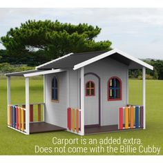 Kids Cubby House Billie Outdoor PlayHouse Timber Wooden188cm High Del Available