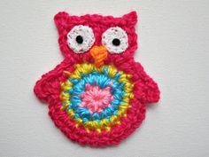 """1pc 3"""" Crochet  OWL Applique"""